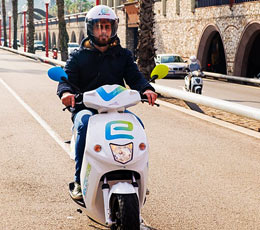 Scooter elétrica eCooltra