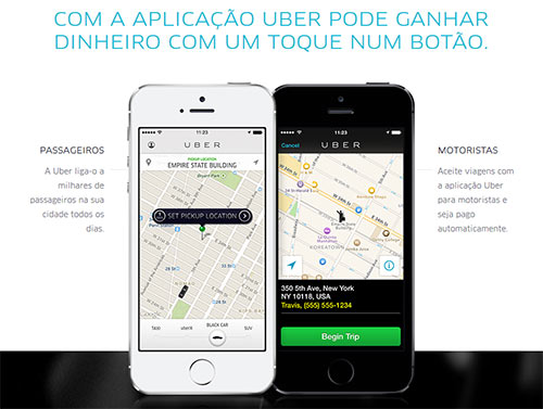 Uber para passageiros e motoristas