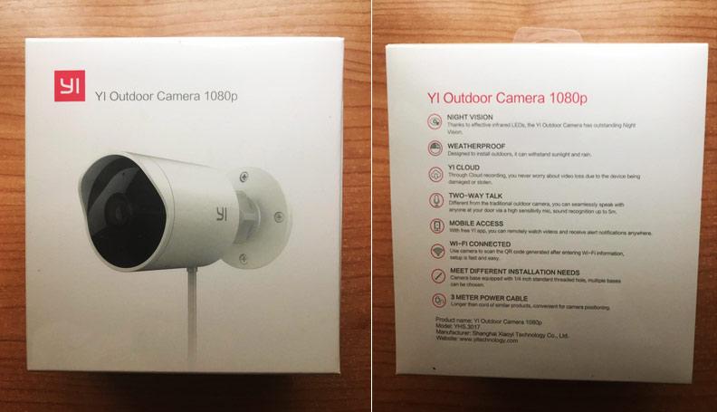 Caixa da Câmara de Vigilância YO Outdoor Camera 1080p