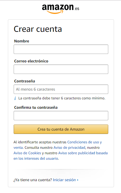 Como criar conta na Amazon Espanha