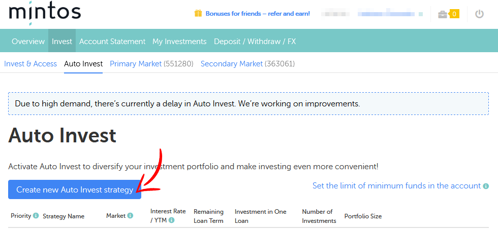 Como investir na Mintos