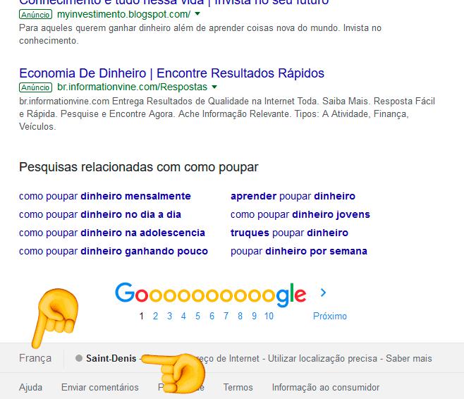 Google não sabe a tua localização real