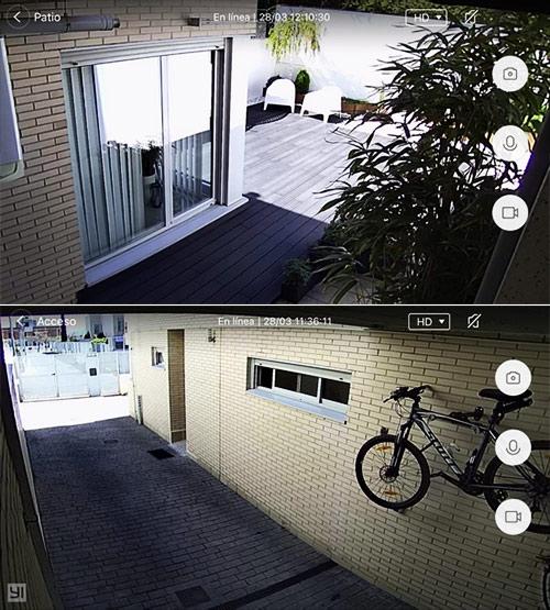 Imagens em tempo-real da Câmara YI Outdoor Camera 1080p