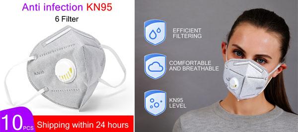 Máscara proteção coronavírus KN95