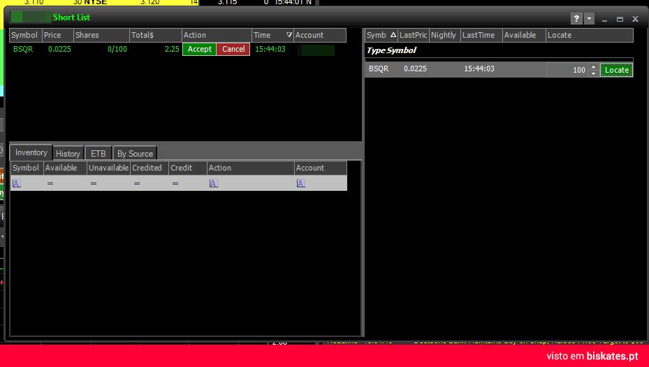 Short locates na plataforma ZeroPro da corretora TradeZero